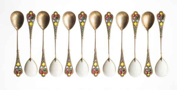 Silver gilt spoons with