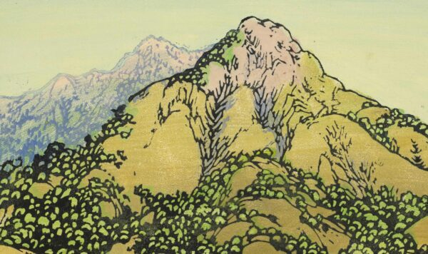 Print of distant hilltops