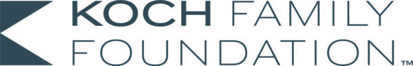Horizontal logo of the words Koch Family Foundation in a sans-serif font