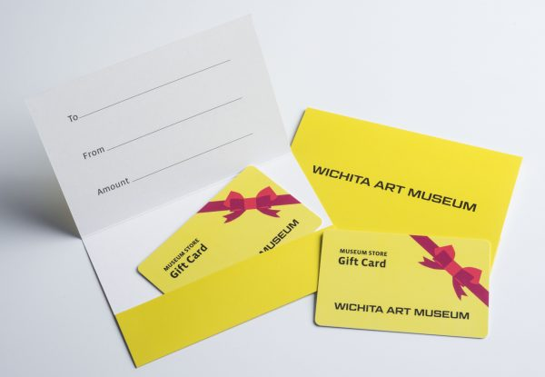Museum Store gift cards showing the front and back sides
