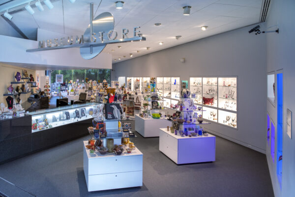 Interior view of the Museum Store with toys, games and puzzles
