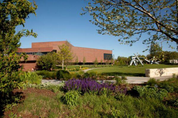 Exterior view of the Art Garden looking northwest