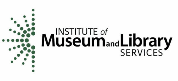 Logo of hte Institute of Museum and Library Services. A multicolored starburst on the left of the type spelling out the name.